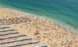 Praia de Nazare, Portugal, vista de cima de Imagem de Stock