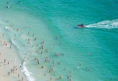 Praia de Nazare, Portugal, vista de cima de Imagens de Stock