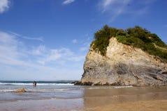 Praia de Newquay Fotografia de Stock Royalty Free