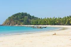 Praia de Ngapali imagem de stock