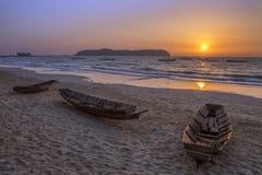 Praia de Ngapali - estado de Rakhine - Myanmar Foto de Stock Royalty Free