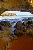 Praia de Ninho a Dinamarca Andorinha no Algarve, Portugal Imagem de Stock Royalty Free