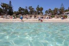Praia de Nissi Fotos de Stock Royalty Free