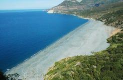 Praia de Nonza. Córsega Foto de Stock Royalty Free