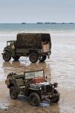Praia de Normandy no aniversário do dia D Foto de Stock