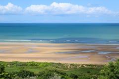Praia de Normandy omaha Fotos de Stock Royalty Free