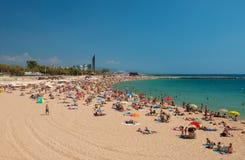 Praia de Nova Icaria em Barcelona Fotos de Stock