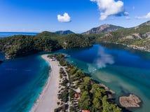 Praia de Oludeniz em Fethiye Fotos de Stock