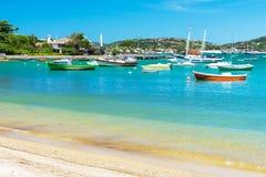 Praia de Ossos em Buzios, Rio de janeiro Imagens de Stock Royalty Free