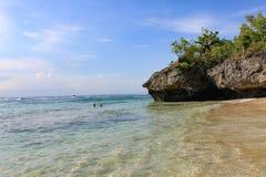 Praia de Padang Padang - Bali, Indonésia Fotos de Stock Royalty Free