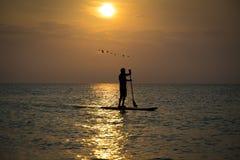Praia de Paddleboard Fotografia de Stock Royalty Free