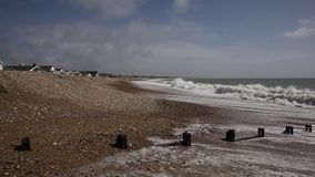 Praia de Padgham perto de Bognor Regis West Sussex England Reino Unido filme