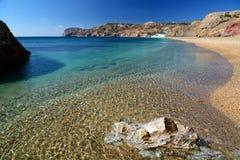 Praia de Paleochori (ou Paliochori) Milos Ilhas de Cyclades Greece fotografia de stock