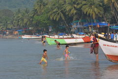 Praia de Palolem em Goa Fotos de Stock