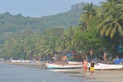 Praia de Palolem em Goa Fotos de Stock Royalty Free