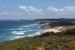 Praia de Palue em Brittany, França Fotos de Stock Royalty Free