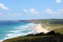 Praia de Palue em Brittany, França Imagens de Stock