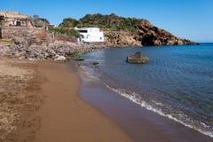 Praia de Panarea Fotografia de Stock Royalty Free