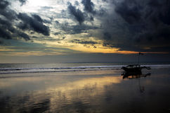 Praia de Pangandaran Fotos de Stock