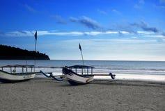 Praia de Pangandaran Fotografia de Stock