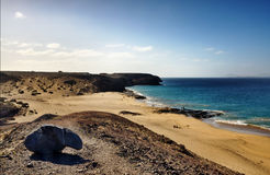 Praia de Papagayo Imagem de Stock Royalty Free