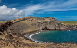 Praia de Papakolea Fotografia de Stock Royalty Free