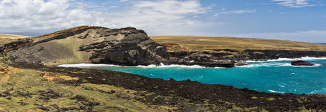 Praia de Papakolea (areia verde), ilha grande, Havaí Imagens de Stock Royalty Free