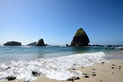 Praia de Papuma, Indonésia Imagem de Stock Royalty Free