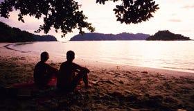 Praia de Pasir Bogak Fotos de Stock