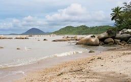 Praia de Pasir Panjang, Kalimantan Fotos de Stock Royalty Free