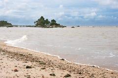 Praia de Pasir Panjang, Kalimantan Imagens de Stock Royalty Free