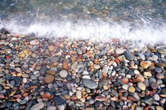 Praia de Pebbled Imagens de Stock Royalty Free