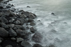 Praia de pedra Fotografia de Stock