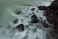 Praia de pedra foto de stock