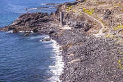 Praia de pedra de Tenerife Imagens de Stock Royalty Free