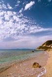 Praia de Pefkoulia Imagem de Stock Royalty Free