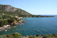Praia de Peloponnese Fotos de Stock Royalty Free