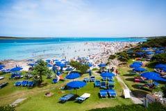 Praia de Pelosa fotos de stock