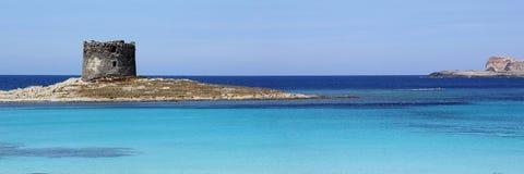 Praia de Pelosa do La, Stintino, Sardinia Imagens de Stock