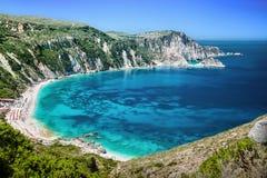 Praia de Petani, Kefalonia, Grécia fotografia de stock royalty free