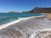 Praia de Phalasarna Imagens de Stock