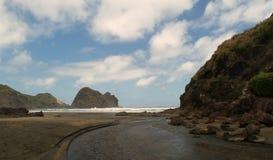 Praia de Piha imagens de stock