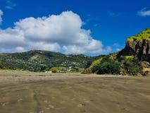Praia de Piha, NZ fotografia de stock