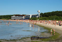 Praia de Pirita em Tallinn Fotografia de Stock