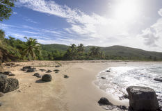 Praia de Playa Brava em Isla Culebra Fotografia de Stock