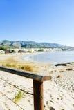 Praia de Playa del Cargador em Alcossebre, Espanha Fotos de Stock