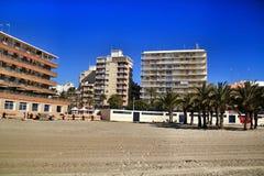 Praia de Playa de Levante em Santa Pola imagens de stock royalty free