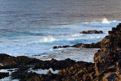 Praia de Playa Papagayo, BLANCA de Playa, Lanzarote, Spain Fotografia de Stock Royalty Free