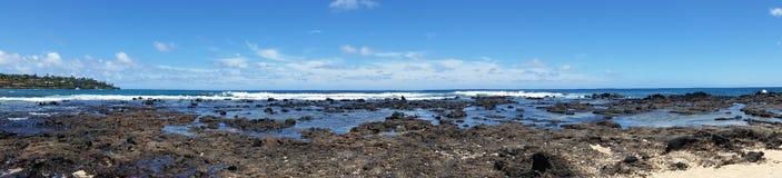 Praia de Poipu - Kauai, Havaí Fotos de Stock Royalty Free