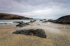 Praia de Poldhu Imagem de Stock